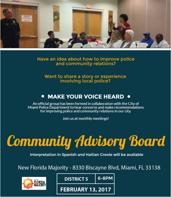 Meeting Community Advisory Board Miami